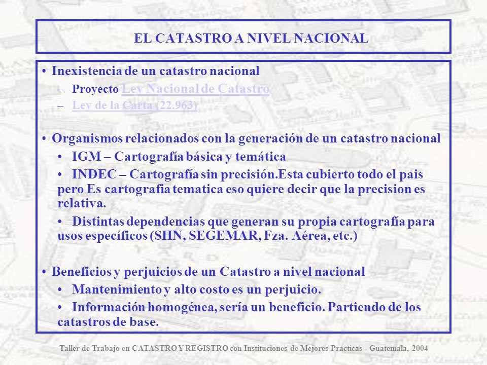 EL CATASTRO A NIVEL NACIONAL