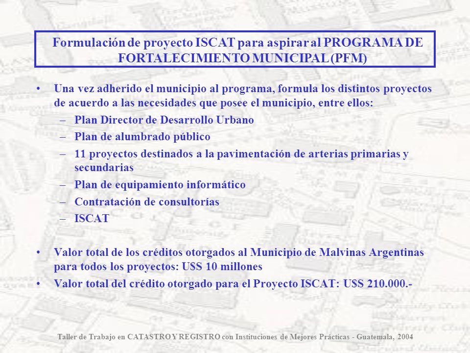 Formulación de proyecto ISCAT para aspirar al PROGRAMA DE FORTALECIMIENTO MUNICIPAL (PFM)