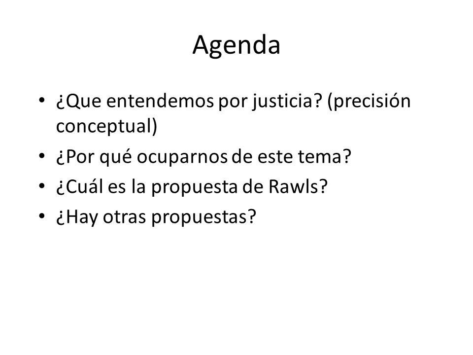 Agenda ¿Que entendemos por justicia (precisión conceptual)