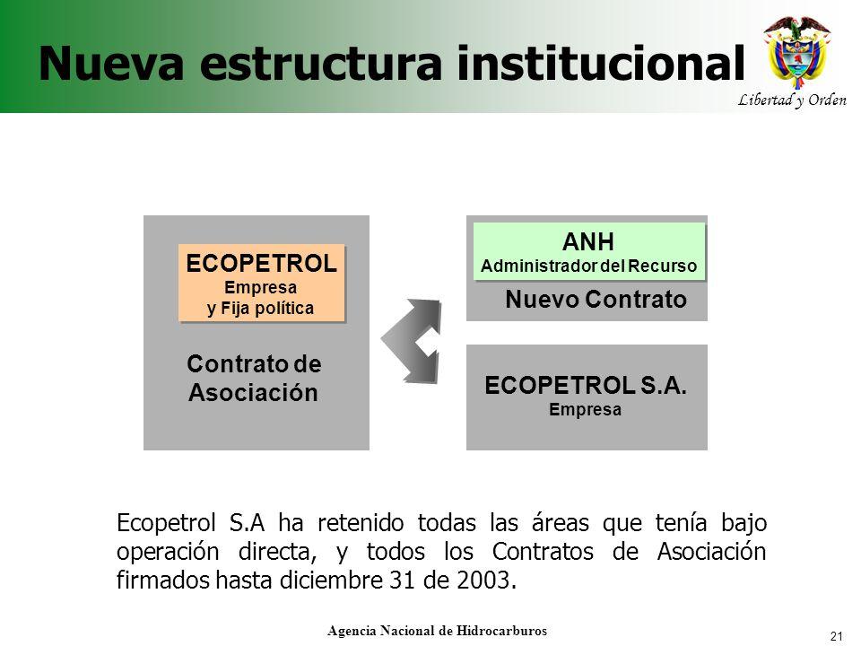Nueva estructura institucional