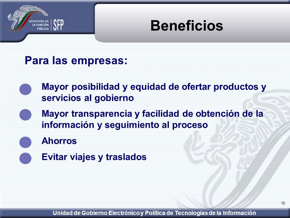 Beneficios Para las empresas: