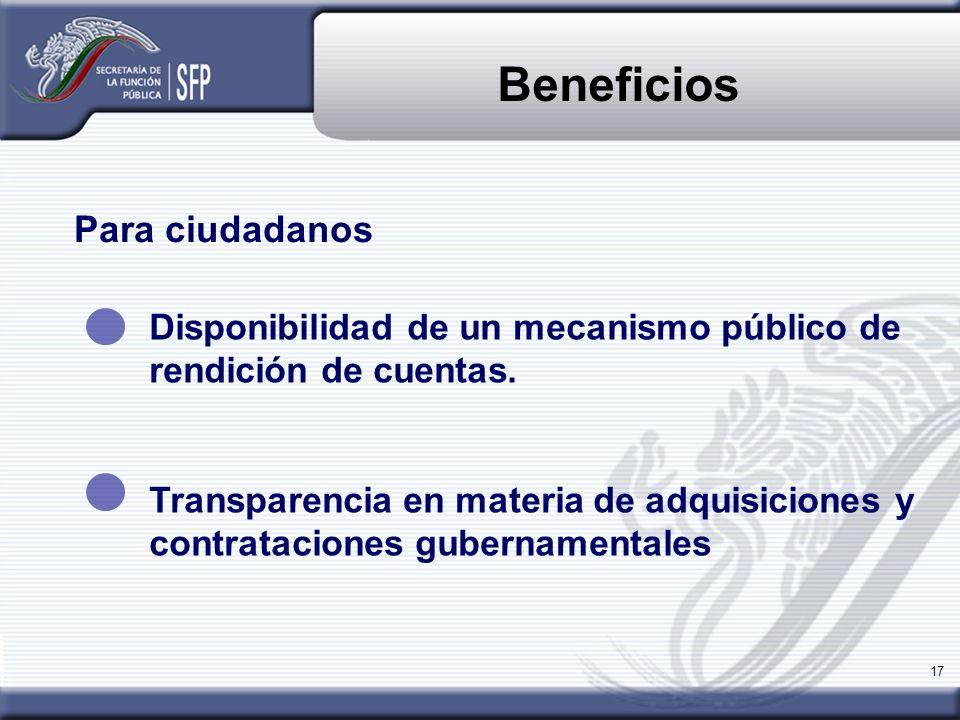 Beneficios Para ciudadanos