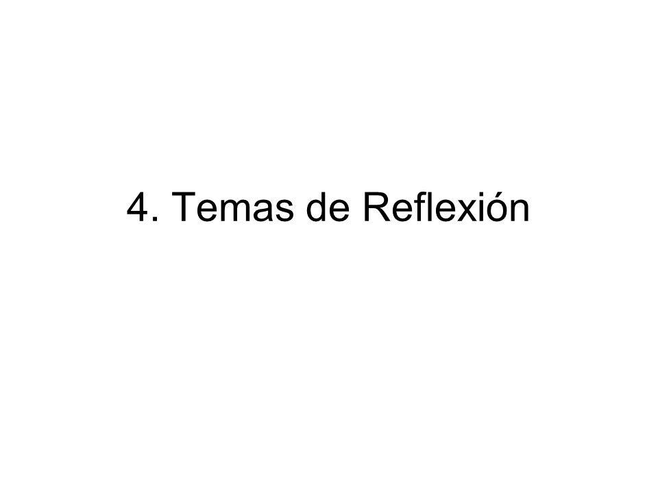 4. Temas de Reflexión