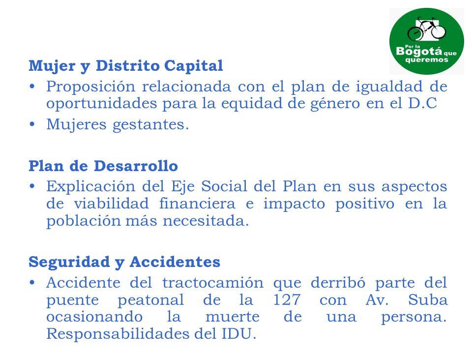 Mujer y Distrito Capital