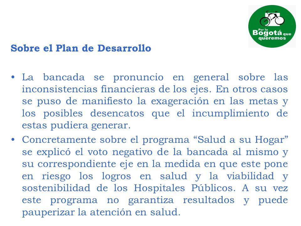 Sobre el Plan de Desarrollo