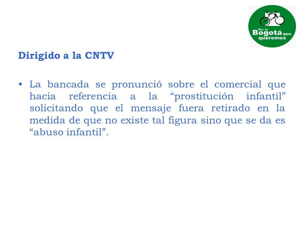 Dirigido a la CNTV