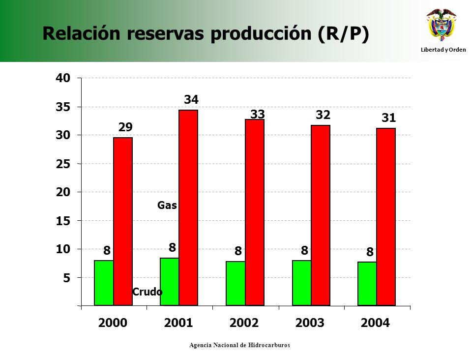 Relación reservas producción (R/P)