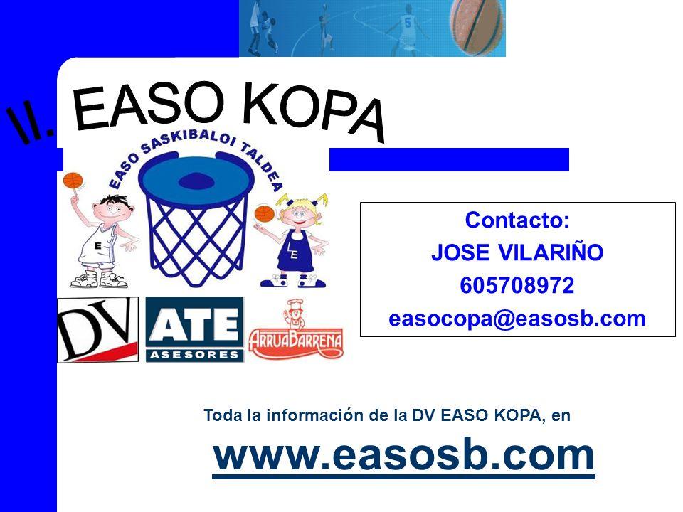 II. EASO KOPA Contacto: JOSE VILARIÑO 605708972 easocopa@easosb.com