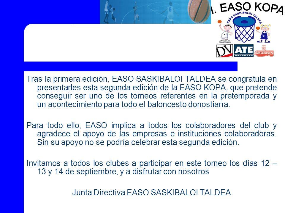 Junta Directiva EASO SASKIBALOI TALDEA
