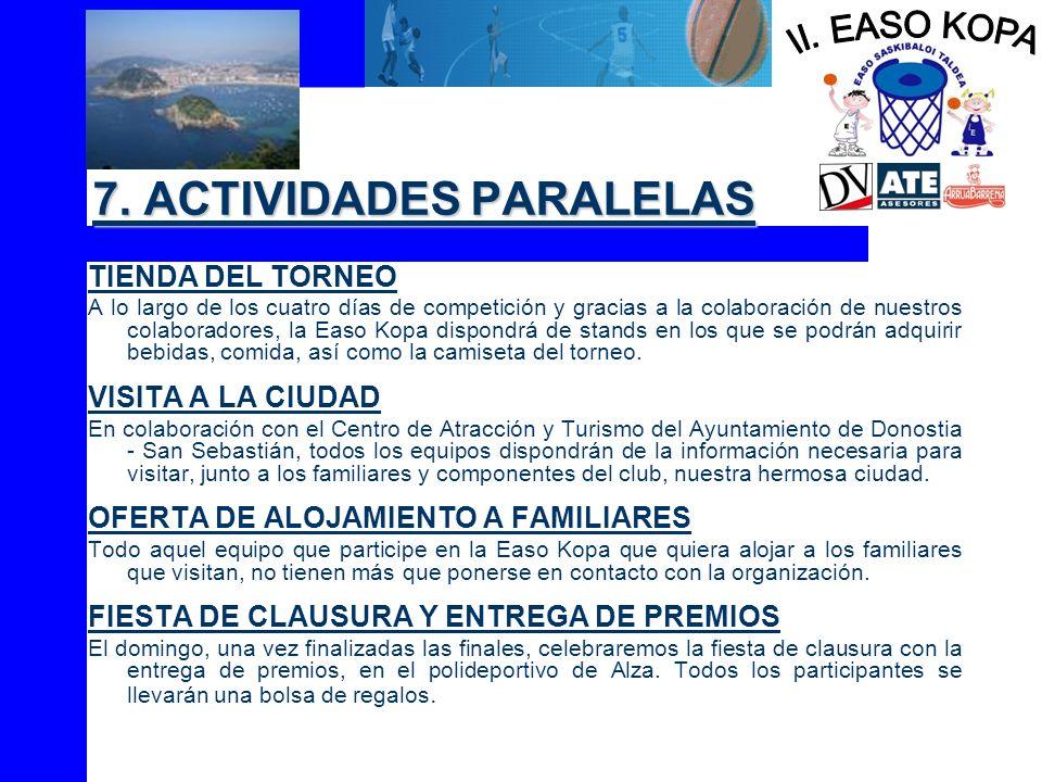 7. ACTIVIDADES PARALELAS