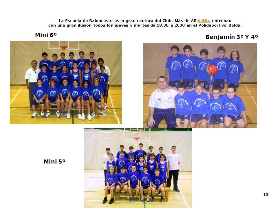 Mini 6º Benjamín 3º Y 4º Mini 5º