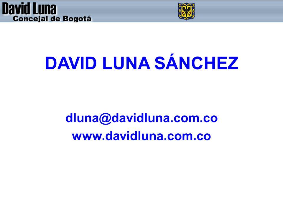 DAVID LUNA SÁNCHEZ dluna@davidluna.com.co www.davidluna.com.co