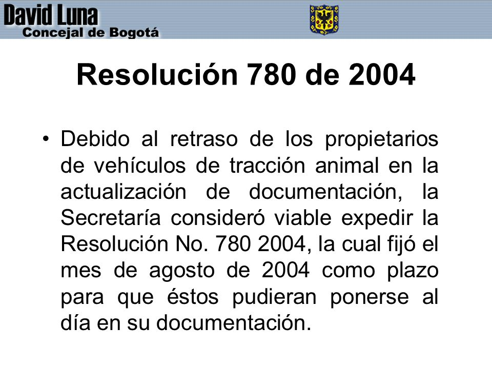 Resolución 780 de 2004