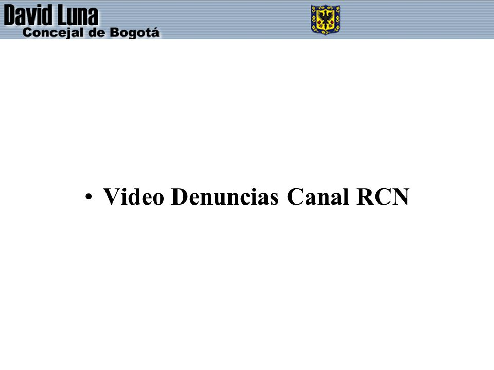 Video Denuncias Canal RCN