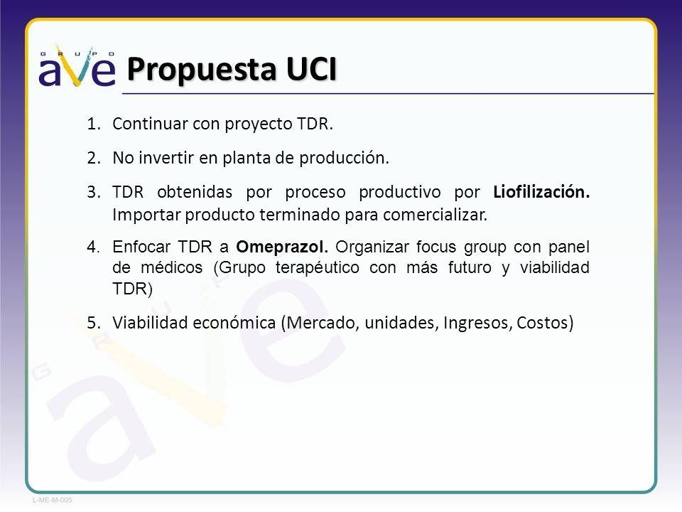Propuesta UCI Continuar con proyecto TDR.