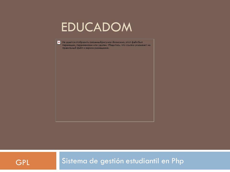 EDUCADOM Sistema de gestión estudiantil en Php GPL
