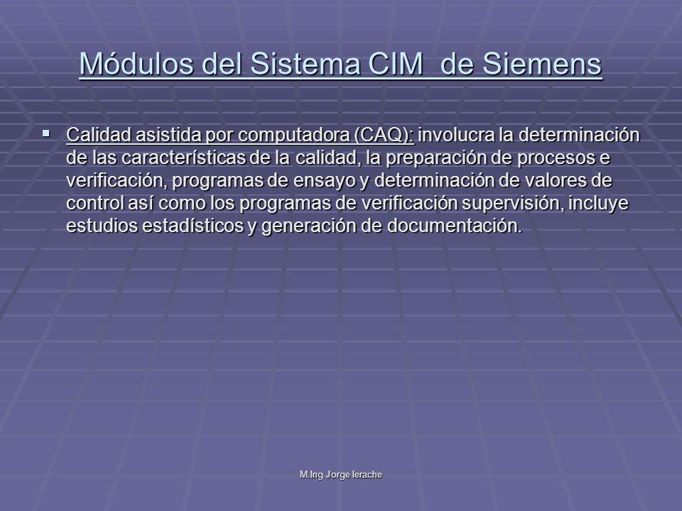 Módulos del Sistema CIM de Siemens