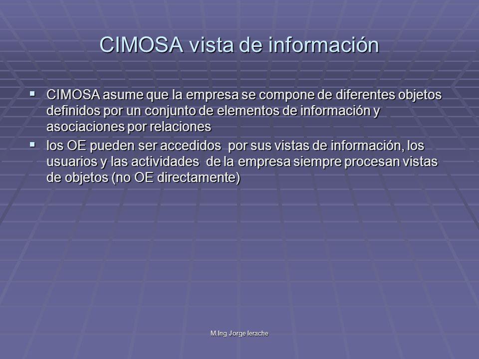 CIMOSA vista de información