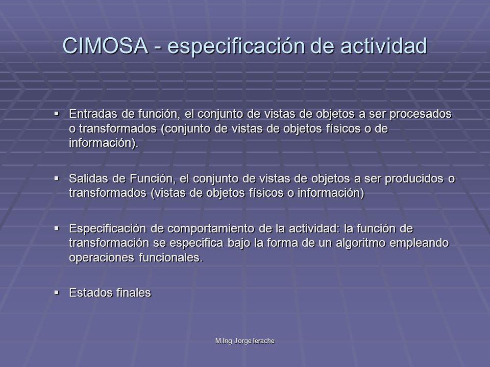CIMOSA - especificación de actividad