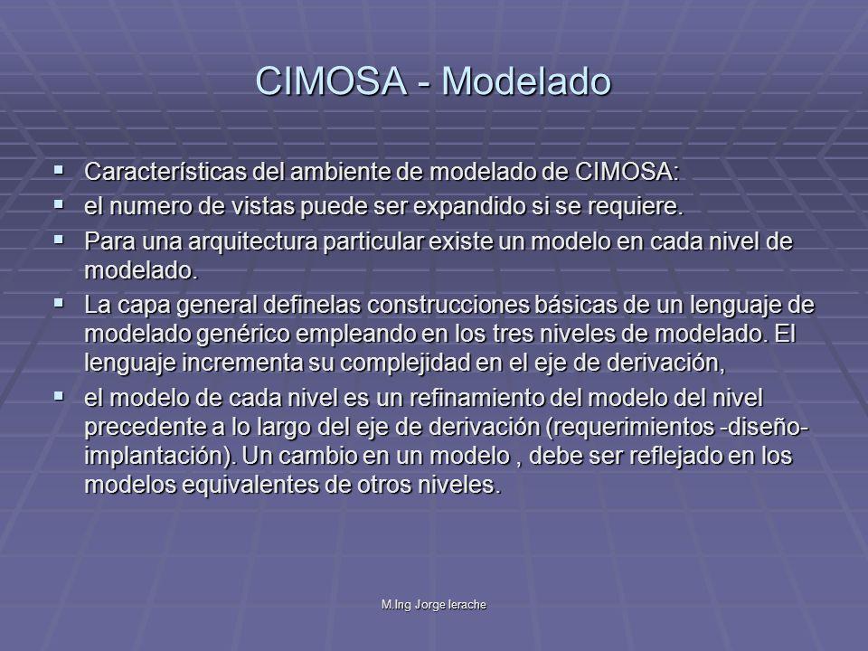 CIMOSA - Modelado Características del ambiente de modelado de CIMOSA:
