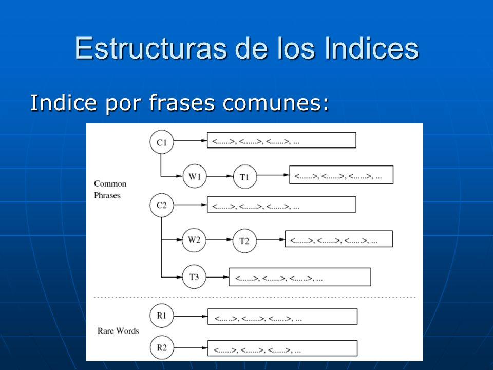 Estructuras de los Indices