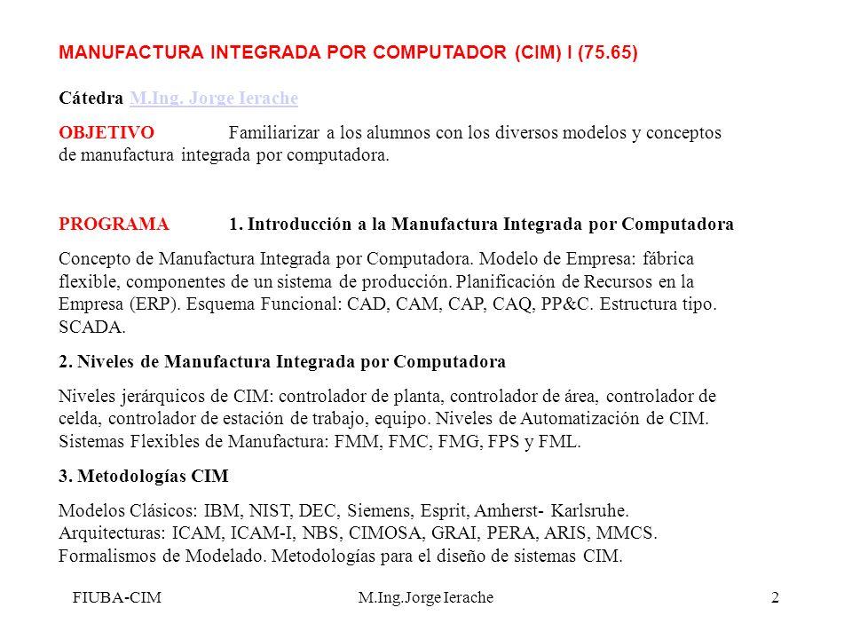 PROGRAMA 1. Introducción a la Manufactura Integrada por Computadora