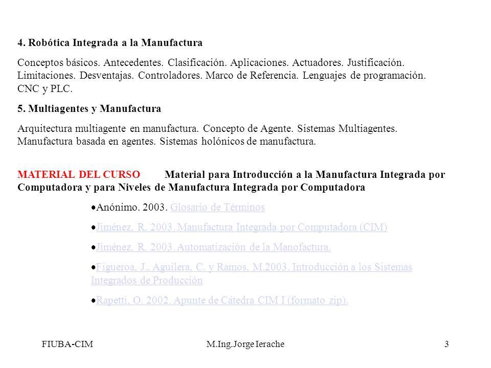 4. Robótica Integrada a la Manufactura