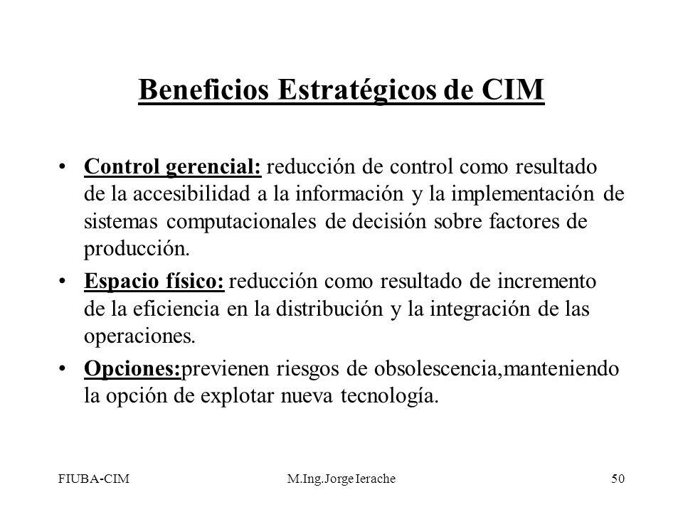 Beneficios Estratégicos de CIM