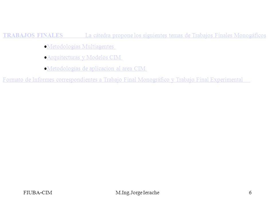 Metodologías Multiagentes Arquitecturas y Modelos CIM