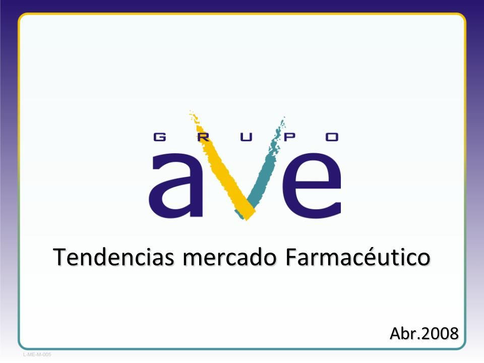 Tendencias mercado Farmacéutico