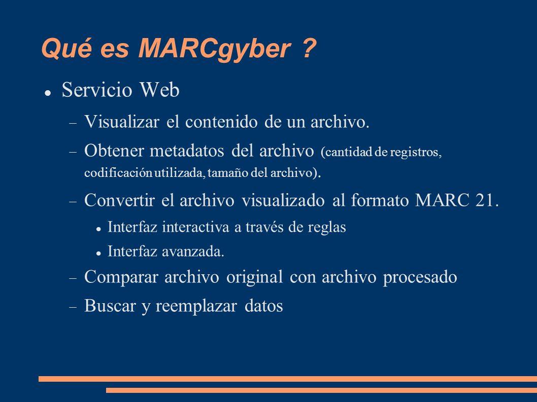 Qué es MARCgyber Servicio Web Visualizar el contenido de un archivo.