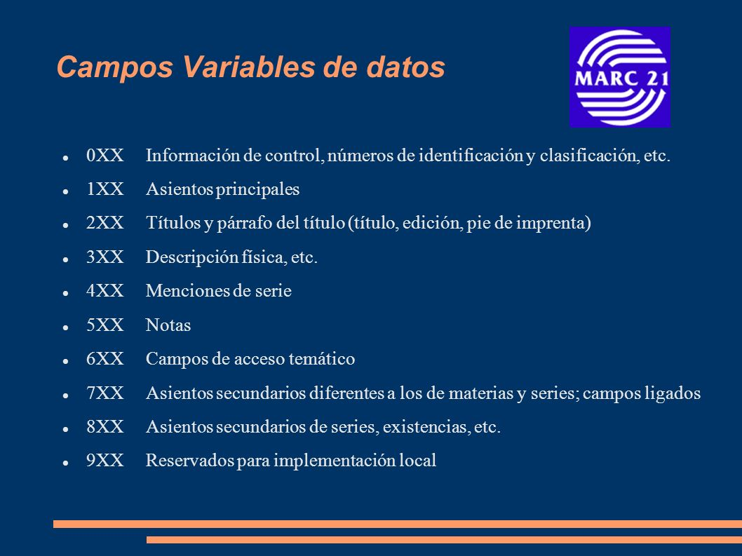 Campos Variables de datos