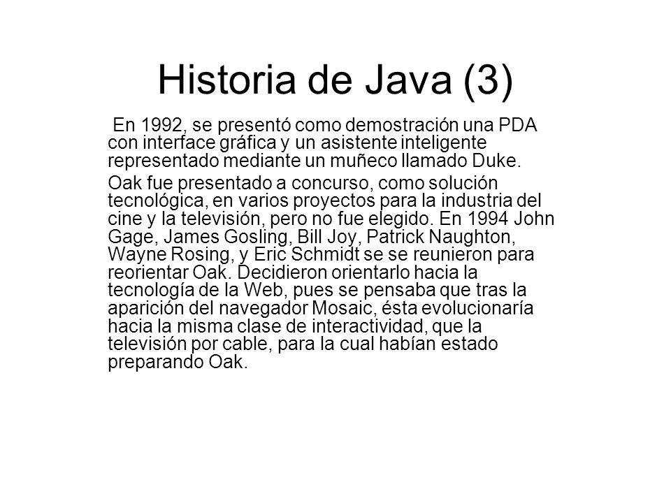 Historia de Java (3)