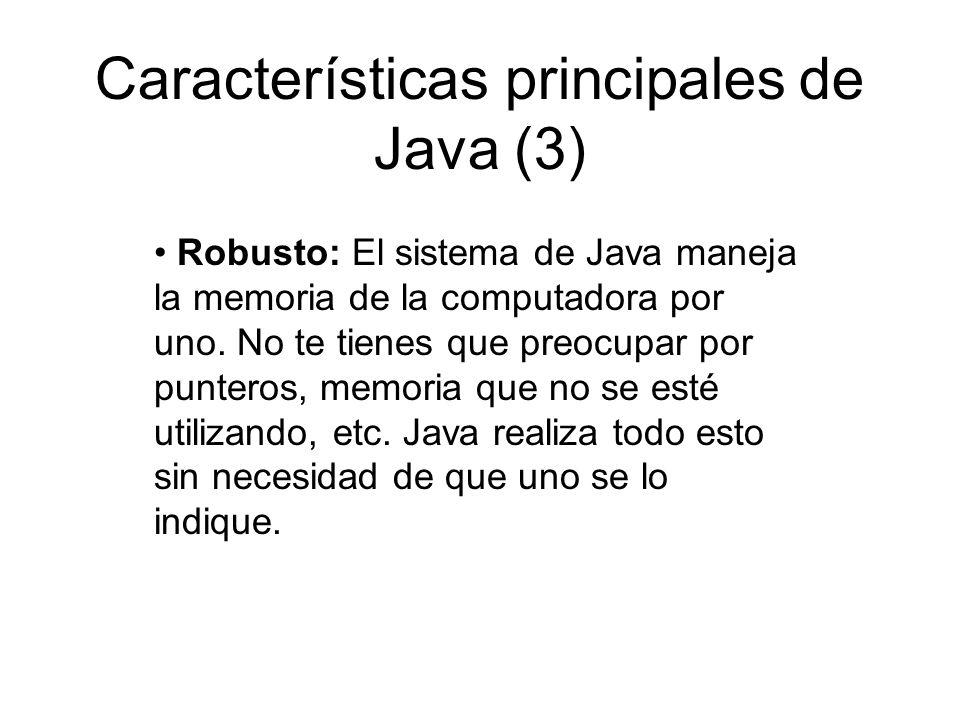 Características principales de Java (3)