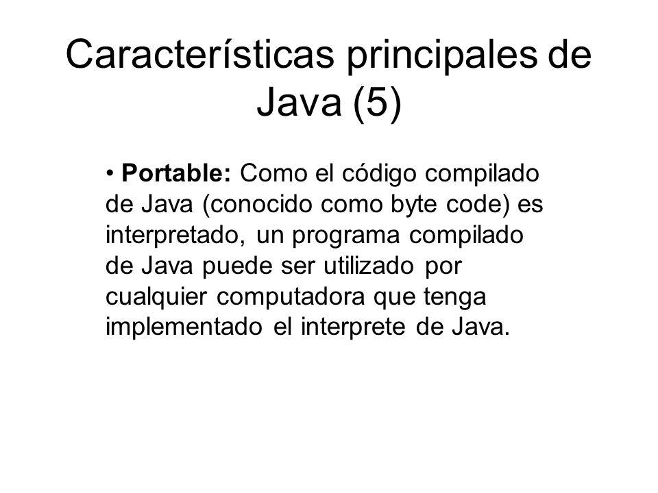 Características principales de Java (5)