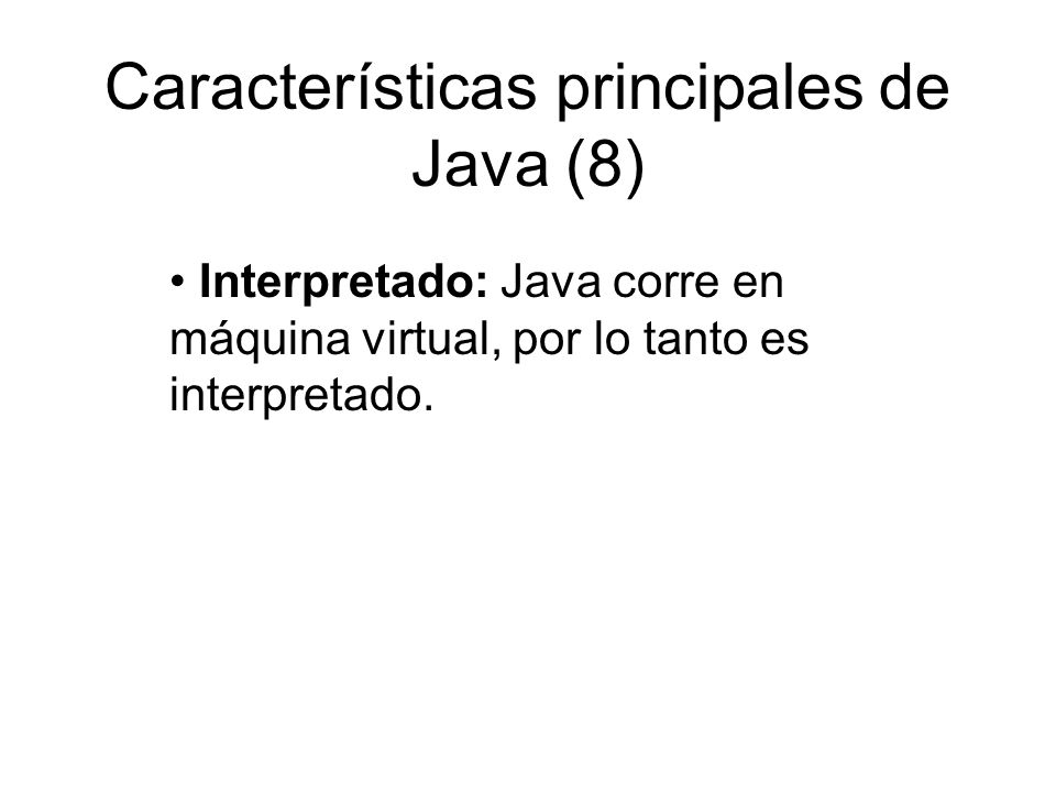Características principales de Java (8)