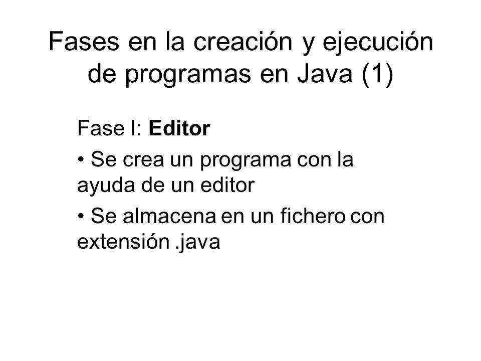 Fases en la creación y ejecución de programas en Java (1)