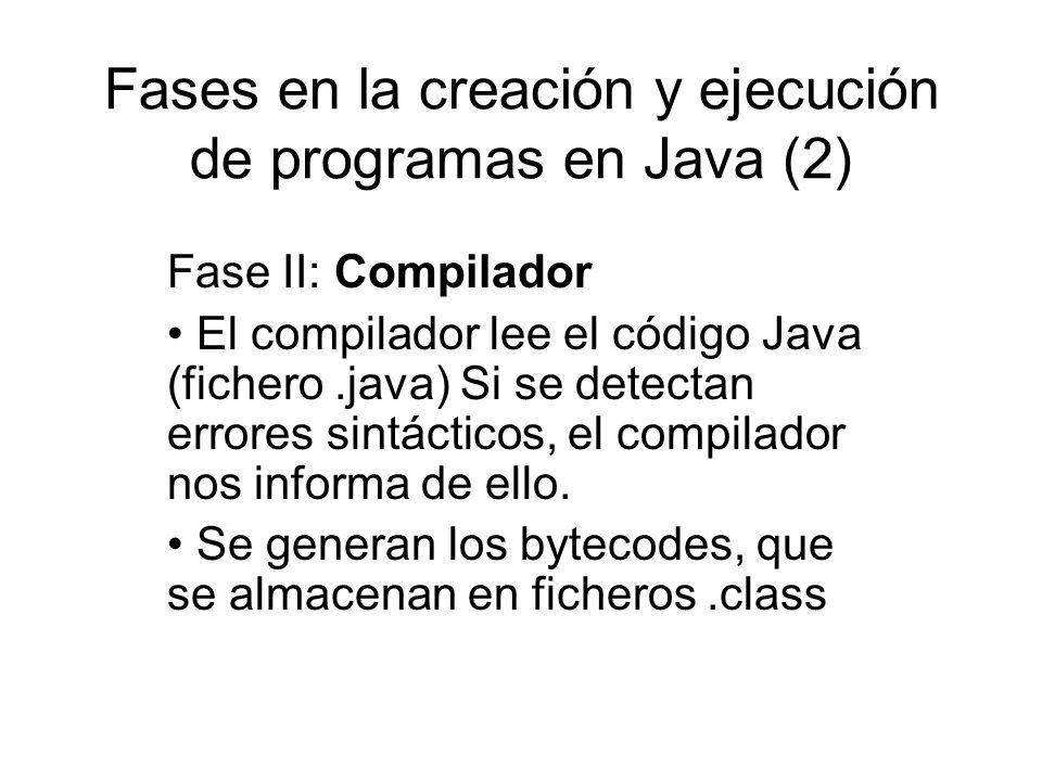Fases en la creación y ejecución de programas en Java (2)