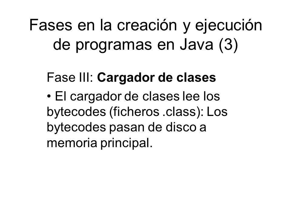Fases en la creación y ejecución de programas en Java (3)