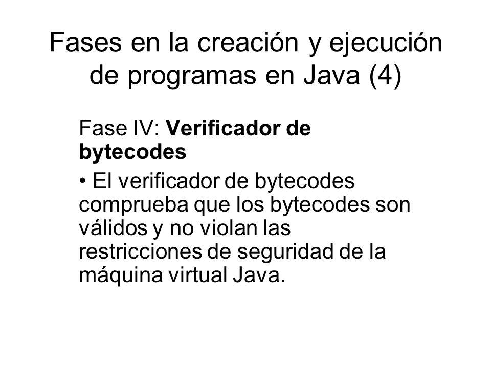 Fases en la creación y ejecución de programas en Java (4)