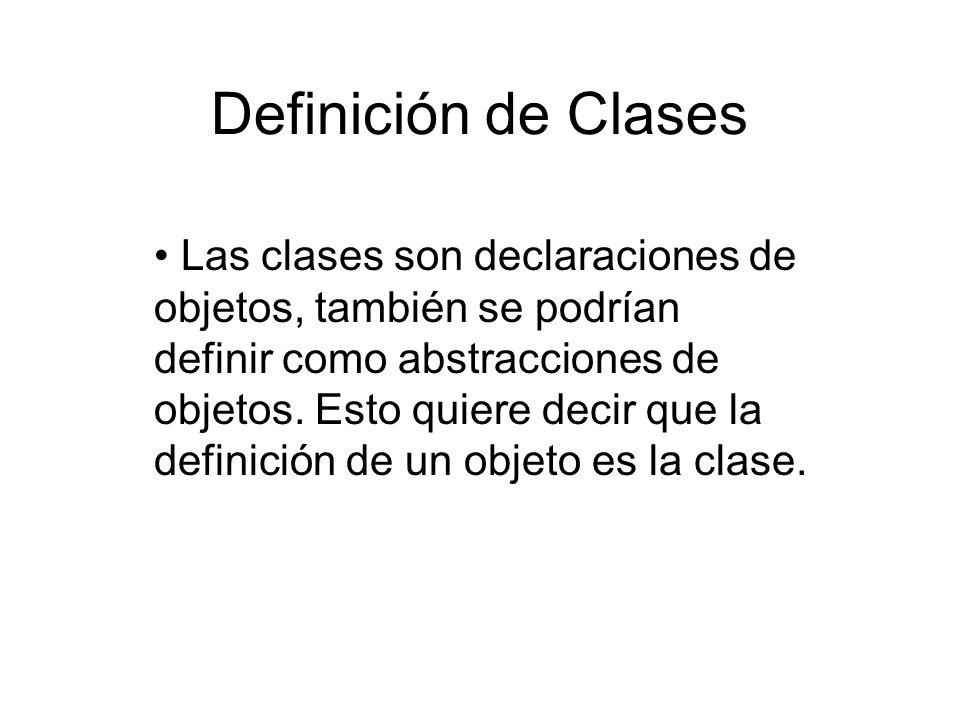 Definición de Clases