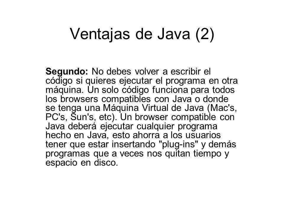 Ventajas de Java (2)