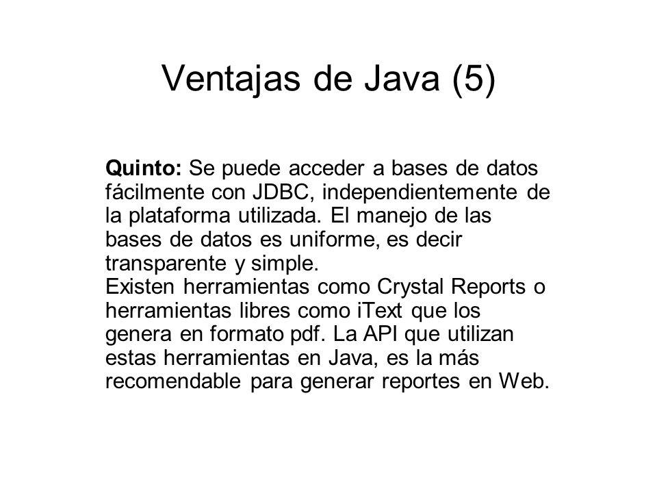 Ventajas de Java (5)