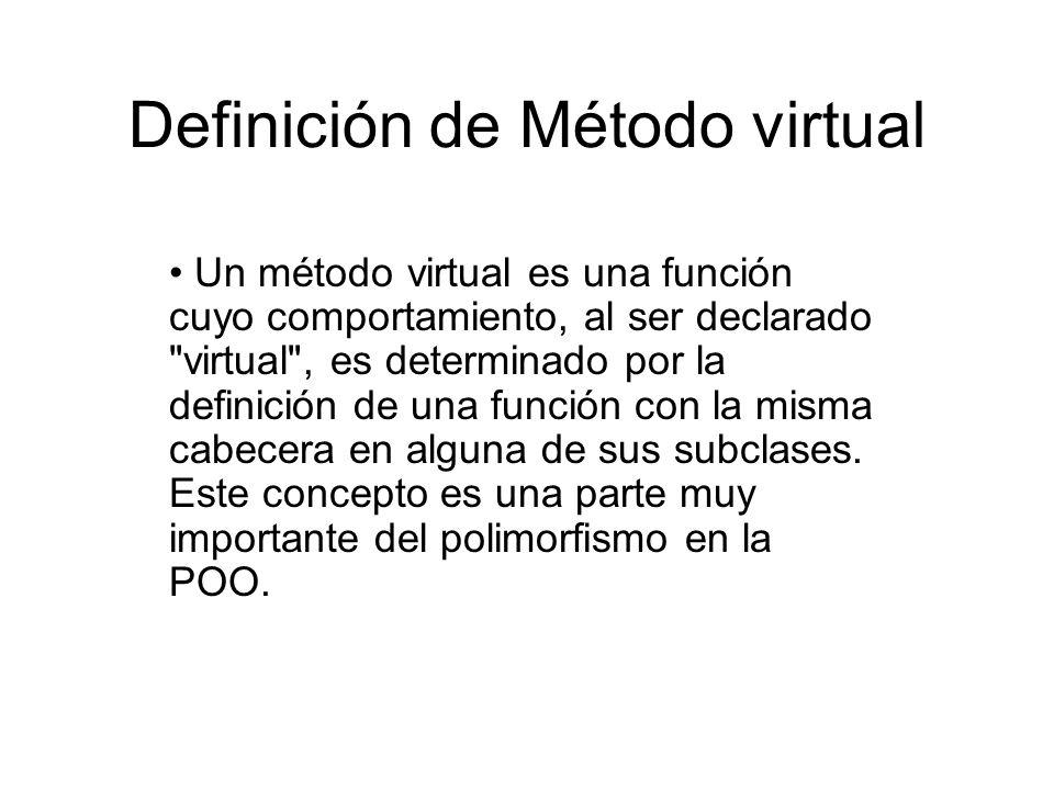 Definición de Método virtual