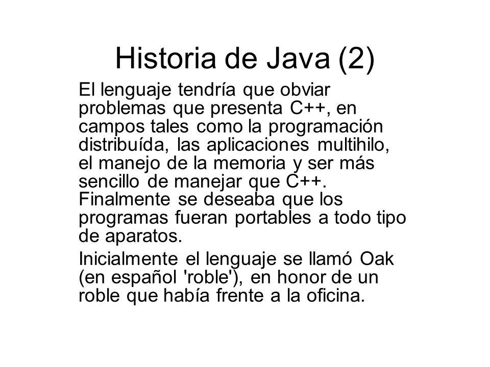 Historia de Java (2)