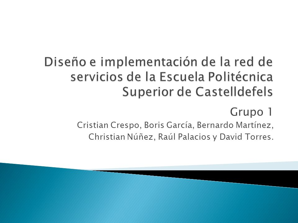 Diseño e implementación de la red de servicios de la Escuela Politécnica Superior de Castelldefels