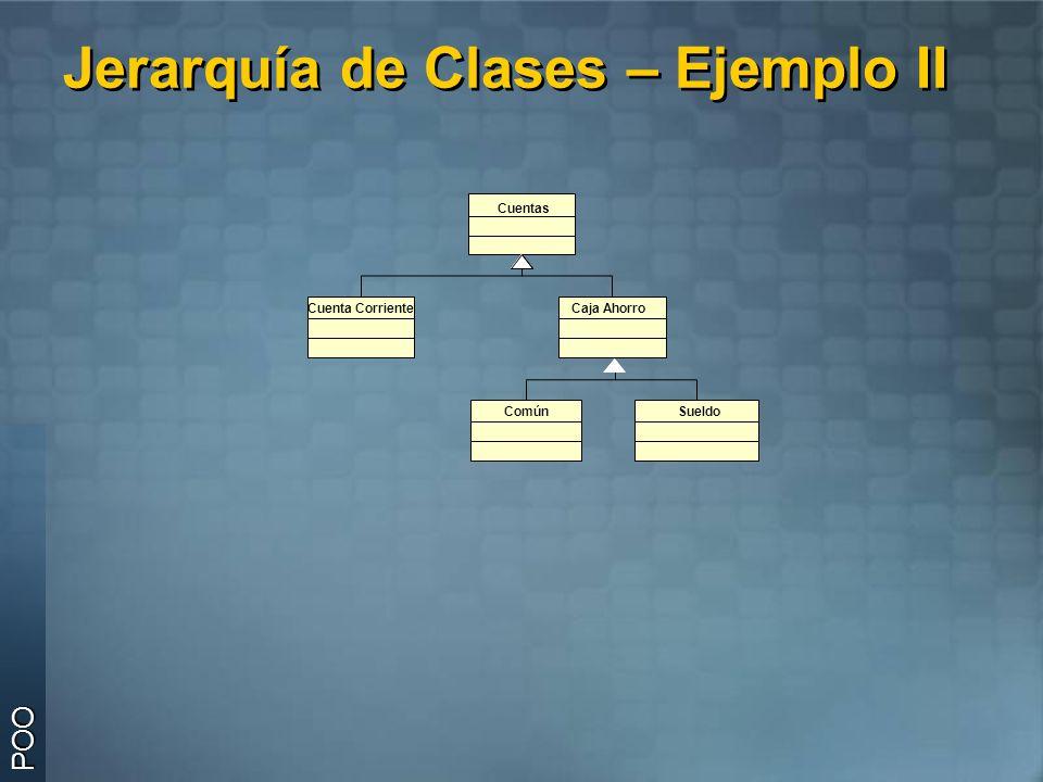 Jerarquía de Clases – Ejemplo II