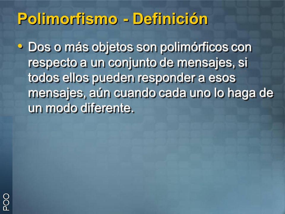 Polimorfismo - Definición