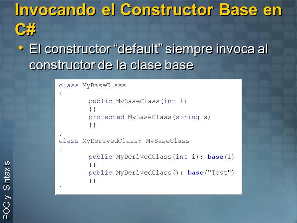 Invocando el Constructor Base en C#