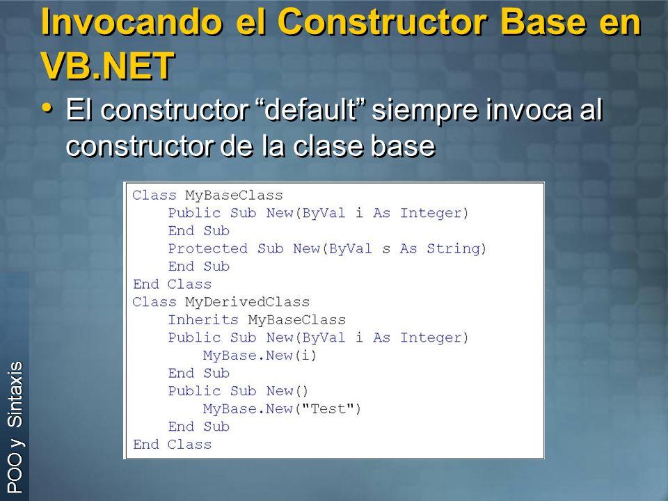Invocando el Constructor Base en VB.NET